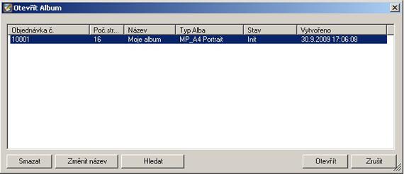 Otevřít album